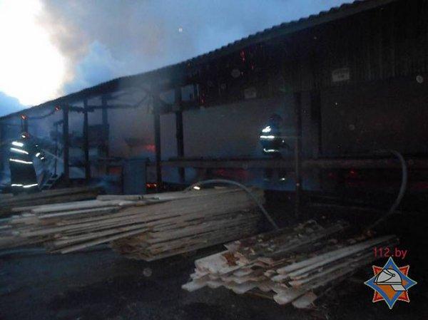 На мебельном предприятии «ФанДОК» в Бобруйске произошёл пожар