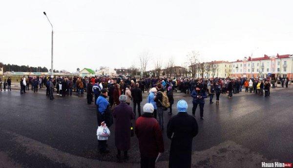 Репортаж: В Рогачёве прошла первая Народная акция протеста за период Независимости – фото, видео