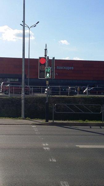 Фотофакт: в Рогачёве снова что-то пошло не так, возле Евроопта «подрались» …светофоры