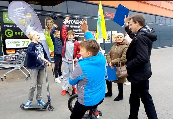 Фотофакт: В Рогачёве прошли пикеты в поддержку выдвижения Сергей Кравцова