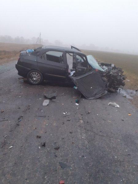 В Рогачевском районе лоб в лоб столкнулись Alfa Romeo и ГАЗ