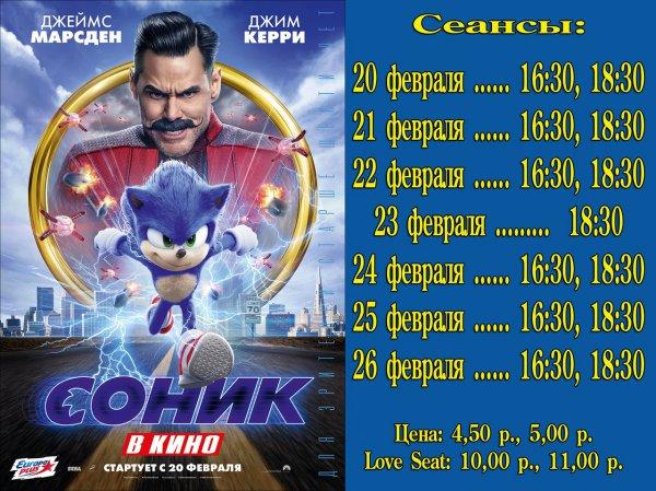 """""""Соник"""" - в кинотеатре Луч с 22 февраля!"""
