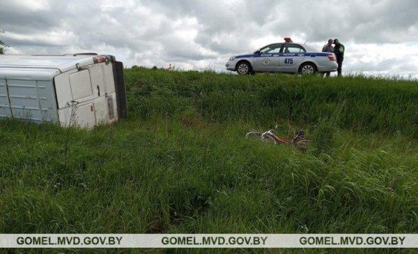 В Рогачевском районе водитель микроавтобуса насмерть сбил велосипедиста