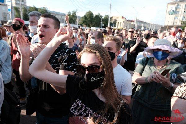 Может хватит над нами издеваться? Белорусские работники культуры присоединились а акции #культпратэст2020 - видео