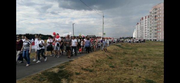 В Рогачёве на участников мирных акций Солидарности составили десятки протоколов