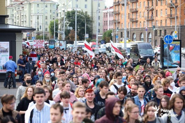 В Беларуси началась общенациональная забастовка студентов - видеорепортаж