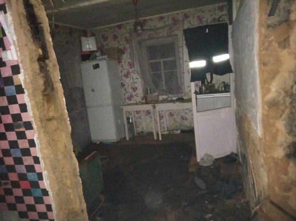 В деревне Городец Рогачёвского района горел дом. Спасатели тридцать минут тушили пожар