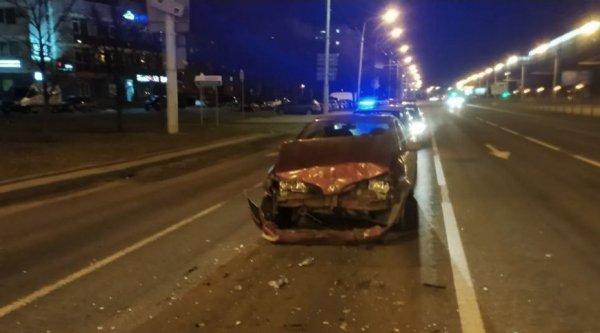 В Минске пьяный водитель уснул за рулём и спровоцировал массовое ДТП