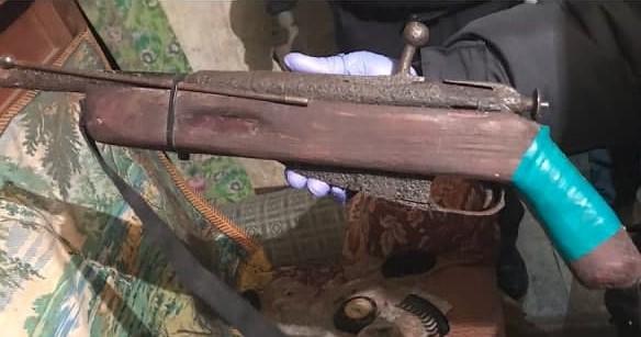 В Рогачёвском районе обнаружен склад боеприпасов и оружия