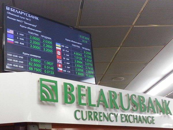 Какие курсы доллара и евро установили обменники в Беларуси на выходные