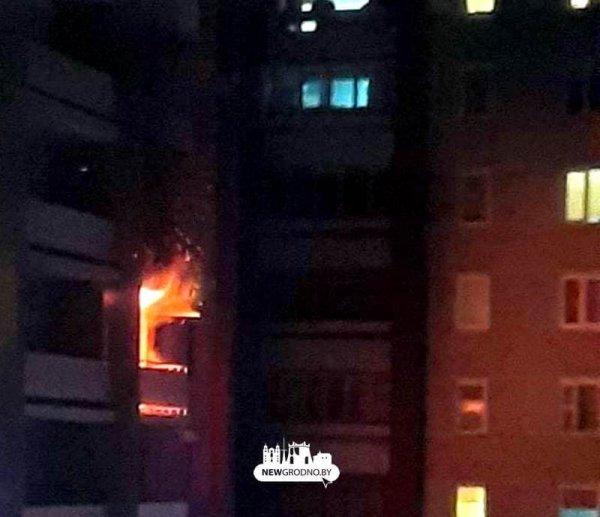 В Гродно во время пожара эвакуировано 27 жителей многоэтажки