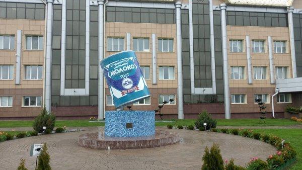 Фотофакт: В Рогачёве заменили знаменитый памятник сгущёнке