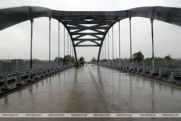 Новый мост через Днепр в Рогачеве украсит арка с французскими вантами