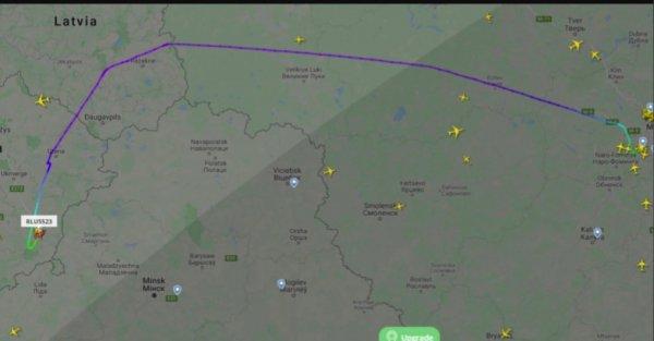 Российские самолёты начали летать в Вильнюс в обход Беларуси