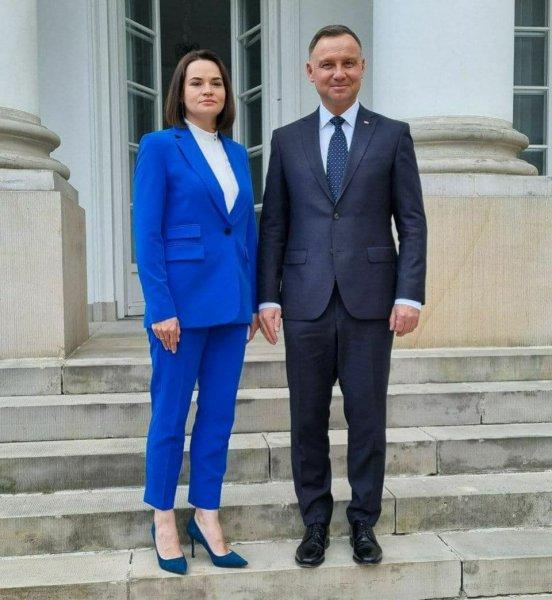 Светлана Тихановская встретилась с президентом Польши Анджеем Дудой