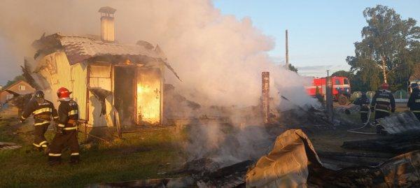 В Петриковском районе сожгли частный магазин