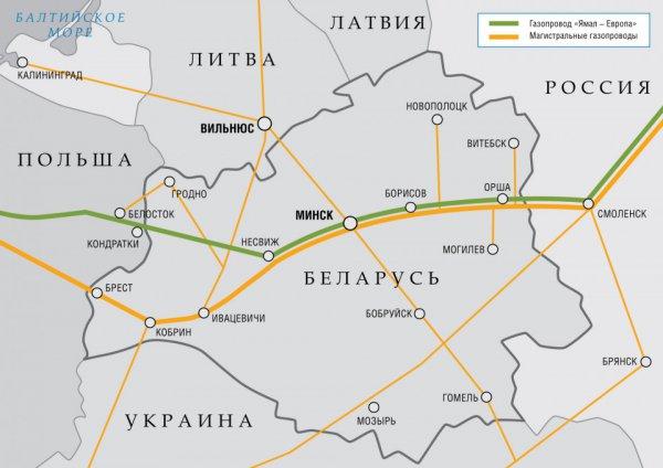 Газпром сократит транзит газа через Беларусь в пять раз