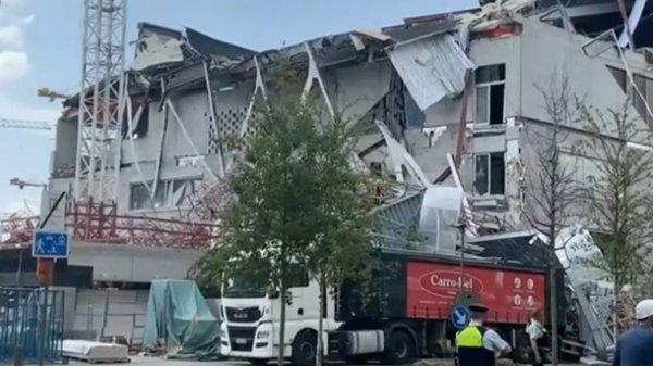 В результате обрушения школы в Бельгии погибло пять строителей