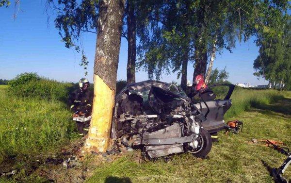 Минчанин на Chevrolet на скорости 120 км/час разбился под Сморгонью