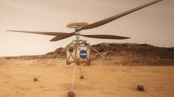 Вертолет NASA Ingenuity совершил рекордно долгий полет над Марсом