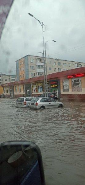 Фотофакт: ливни в Гродно спровоцировали наводнение