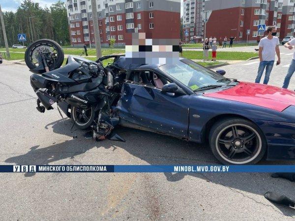 В Солигорске в результате ДТП погиб 25-летний мотоциклист