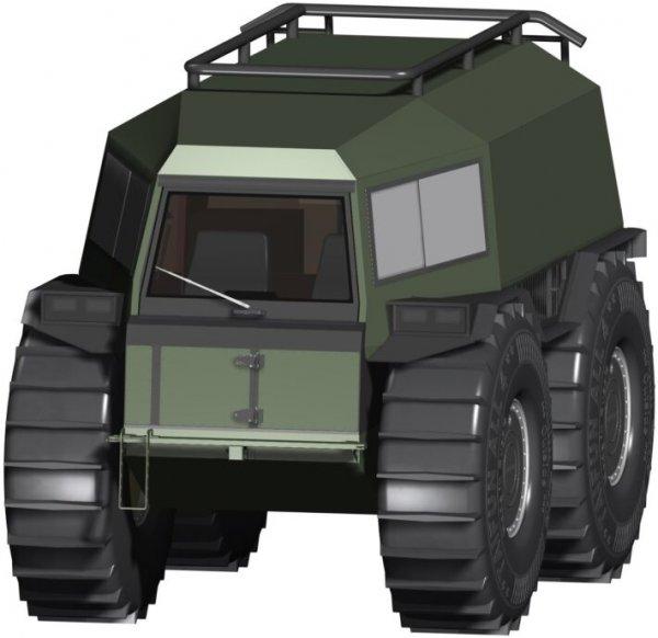 В России запатентовали новый вездеход в стиле «Шерпа»