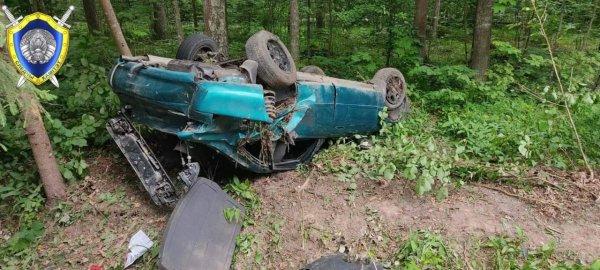 Под Витебском Mazda разогналась до 170 км/ч и перевернулась