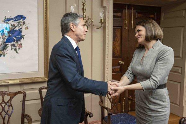 В Вашингтоне состоялись переговоры Светланы Тихановской с госсекретарем США